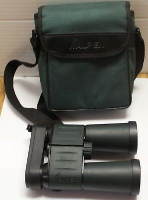 Alpen 10 X 42 Binoculars With Carry Case And Lens Covers Excellent Condition