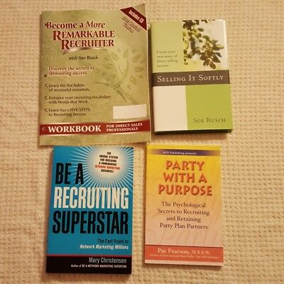 Set of 4 Direct Sales & Recruiting Books, CD , Pat Pearson, Sue Rusch