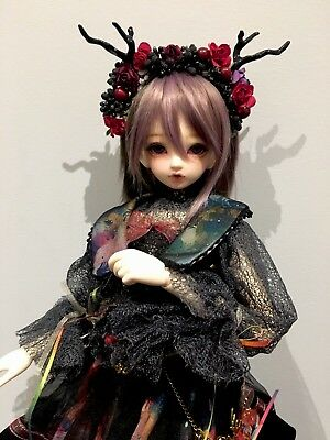 BJD Flower crown Hair accessory goth Bjd