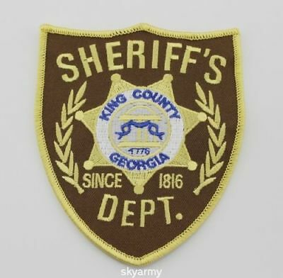 The Walking Dead King County Sheriff Iron Embroidered Patch Shoulder Badge