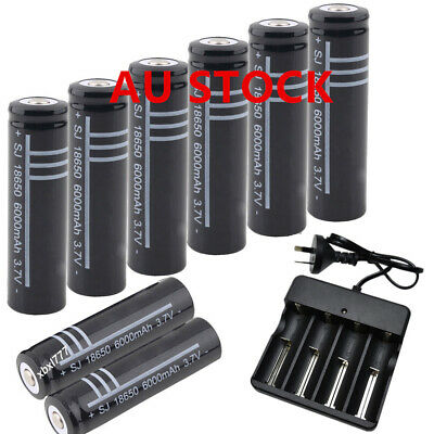 18650 Li-ion 3.7V Rechargeable Battery Charger Set For Flashlight Torch AU Plug