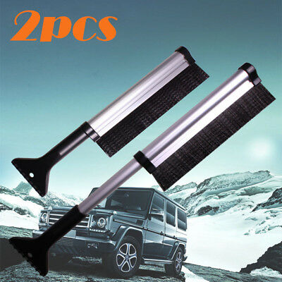 2x Extendable Car Ice Scraper Shovel Snow Brush Removal Clean Tool