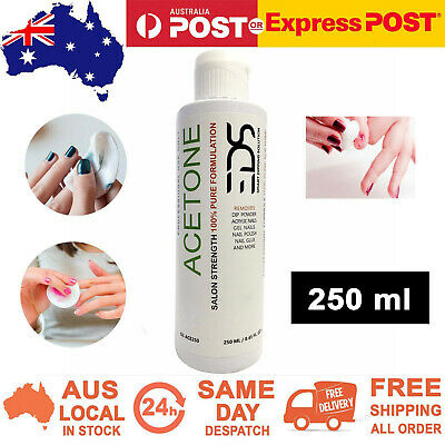 EDS 100% Pure ACETONE SNS Gel Acrylic Nail Polish Soak Off Salon Remover 250 ml