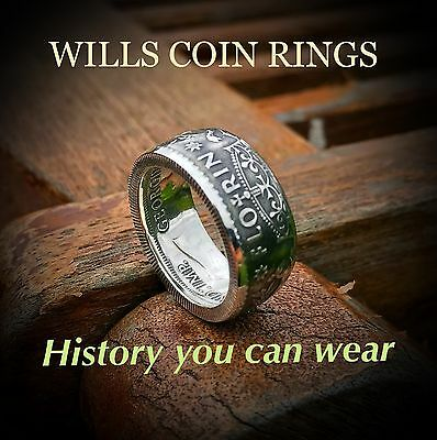 Australian Florin handmade Coin Ring Size Au L 1/2 To Z+1