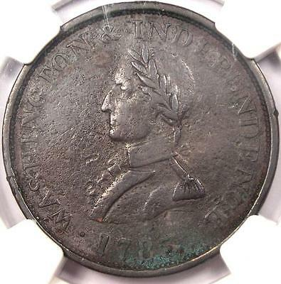 1783 Washington & Independence Cent (Small Bust, Plain Edge) - NGC VF Details