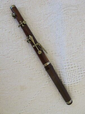 Antique McMahon Five Key Wooden  PICCOLO  w Nickel plated Metalwork