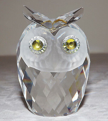 Swarovski Silver Crystal Owl - Medium 2.75 inches Tall - No Box