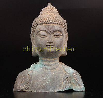 Bronze Casting Buddhist Statue Old Buddha Collectable Old