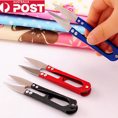 U Shape Metal Stainless Steel Scissors Beading Thread Cutter Sewing Clippers