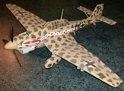 Airfix German WWII Ju87B STUKA Dive bomber in 1/24th scale. Built up.