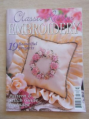 Classic Ribbon Embroidery~19 Projects~Roses~Garden~Sunflowers~Topiary~Daisies...