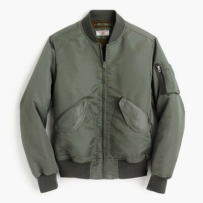 JCREW Wallace & Barnes MA-1 Primaloft® bomber jacket / MEDIUM / DESERT GRASS