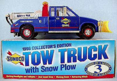 New 1996 Sunoco Tow Truck with Snowplow Light Sound Siren Head Lights Gas Oil