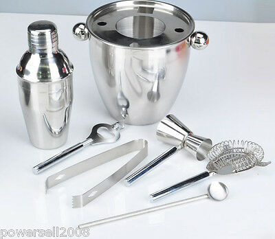 Simplicity 350 ML Stainless Steel Martini Shaker Bartender Tools Kit 7 Pcs