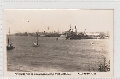 VINTAGE POSTCARD  PANARAMIC VIEW OF HARBOUR FREMANTLE   WESTERN AUSTRALIA 1900s