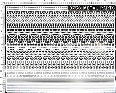 chrome(metal) decals Metal parts(Silver)  3756