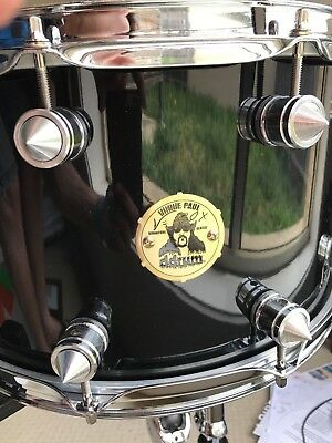 Rare Vinnie Paul Signature Snare Drum - ddrum Gloss Black with spiked lugs