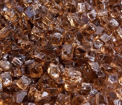 """10 Lbs 1/4"""" COPPER Fire Glass,Fireplace, Fire Pit Glass Rocks Crystals"""