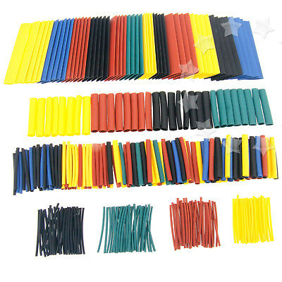 Assorted 328Pcs 8 Sizes Car Electrical Wire Heat Shrink Tube Tubing Wrap Sleeve