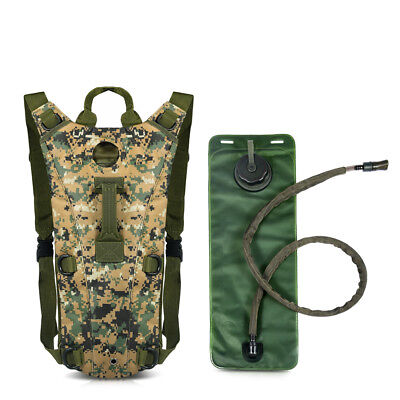 US Outdoor 3L Water Bladder Bag Hydration Backpack Pack Hiking Camping Cycling