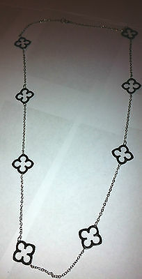 Wholesale Job Lot of 5 Multiple Flower Beads Long Silver Chain Ladies Necklace