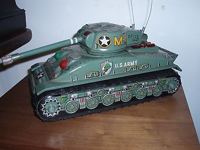 giocattolo latta tank m 4 us army made in japan