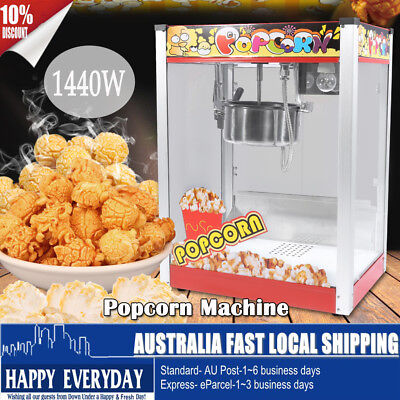 1440W Commercial 8oz Luxury Popcorn Maker Pop Corn Popper Machine Popping Cooker