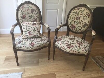 Pair Of Louis 15th Style  Armchairs