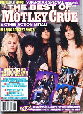 Motley Crue - Superstar Special Magazine 1991 Nm Free U.s. Shipping