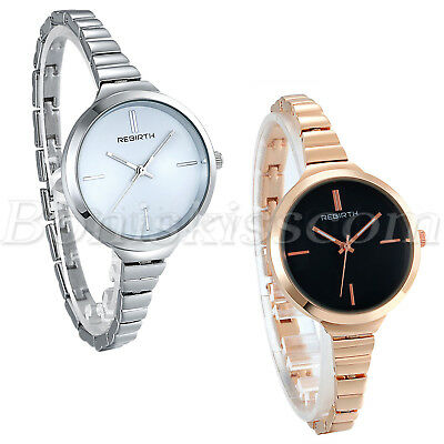 Women's Ultral Thin Band Quartz Analog Dress Charm Wrist Watch Bracelet Chain
