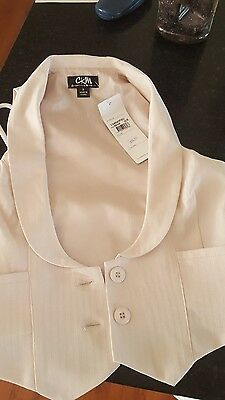 New with tags gorgeous pinky beige vest size Small