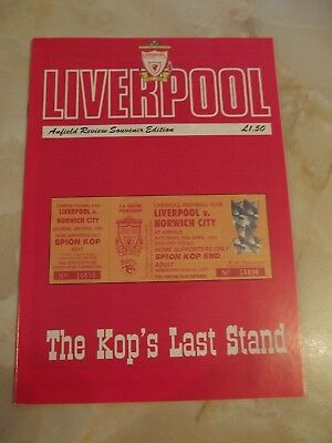 LIVERPOOL v NORWICH CITY  THE KOPS LAST STAND  1993-94 SEASON MINT CONDITION