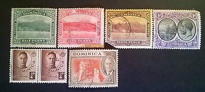 DOMINICA STAMPS - 1903 to 1951 - SET OF 7 - USED