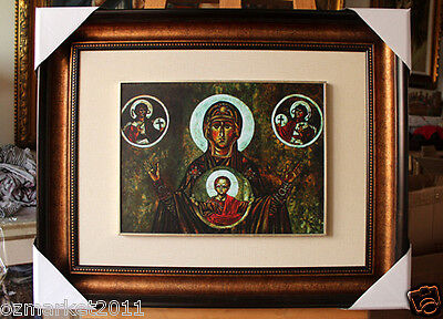 Catholic Church Portrait Jesus Cross Christian Blessed Cloth Delicate Frame J