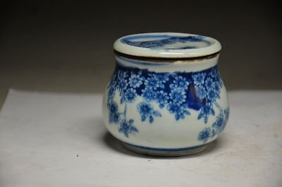 Chinese blue and white porcelain hand painting flowers pot