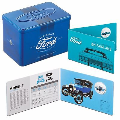 """2017 RAM FORD AUSTRALIA CLASSIC COLLECTION  50c  SET """"11 COINS ONLY"""" IN TIN"""