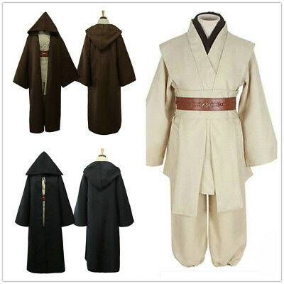 Star Wars Obi-Wan Kenobi Jedi Knight Master Cloak Halloween Adult Costume Set