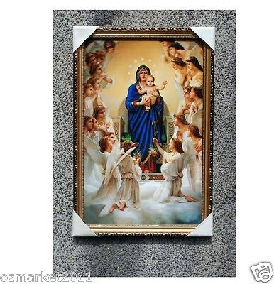 Catholic Church Portrait Jesus Cross Christian Blessed Simple Frame Decoration