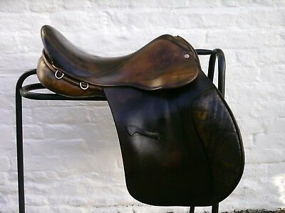 """Quality Jeffries Falcon Hawk GP Saddle 16.5"""" Med/Wide To Wide Fit"""