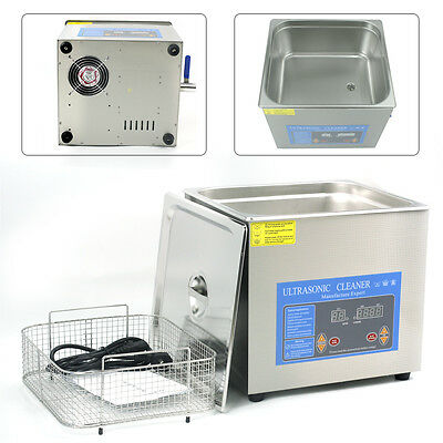 15L Digital Ultrasonic Cleaner Timer Heated Cleaning Jewelry Machine with Basket