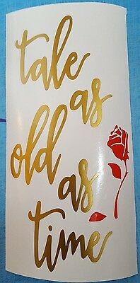 Beauty and the beast Decal Wine Bottle Sticker BOTTLE NOT INCLUDED