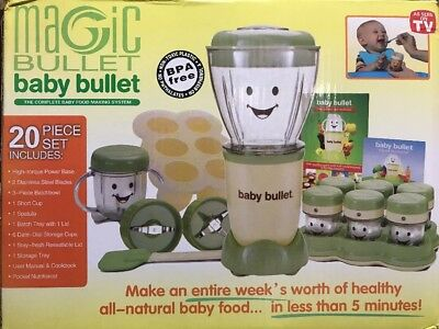NutriBullet Baby Bullet Food Processor Blender MIXER Juicer ALL in ONE