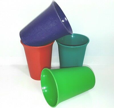 Vintage Tupperware Picnic cup tumbler drinking plastic glasses Bulk Green Red