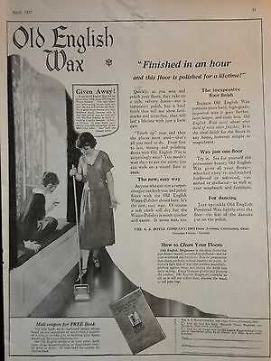 Vintage 1922 Print Ad{D7} Old English Wax A.s. Boyle Co. Cincinnati