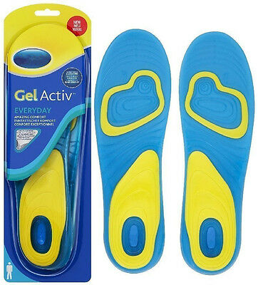Men Women Gel Active Everyday Work Sports Shock Absoring Insoles For Scholl GS