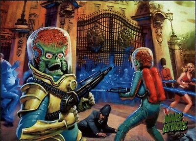 Mars Attacks Invasion -  A Topps 2013 Card Buckingham Palace Massacare