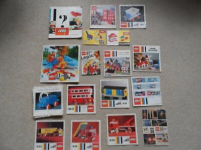 Job lot of vintage Lego instructions only (no kits included)