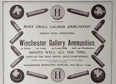 1899 Ad (1800-19)~Winchester Repeating Arms Co. New Haven, Conn. Ammunition
