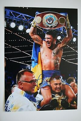 Vasyl Lomachenko signed 20x30cm Foto Autogramm Autograph In Person Box Boxing