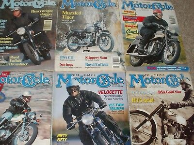 The Classic Motorcycle Magazines 1992 ( 6 Issues )